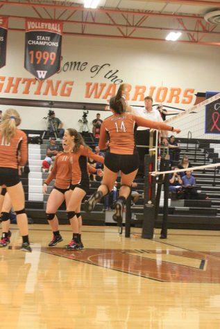 JV Orange Volleyball Sweeps Hendrickson Hawks