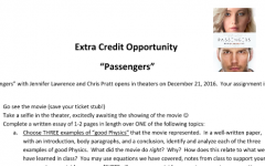 Passengers Extra Credit Opportunity