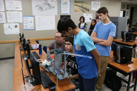 Principles of Engineering Students Present Marble-Sorting Robots