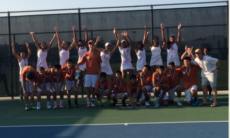 Varsity Tennis Win District Champions