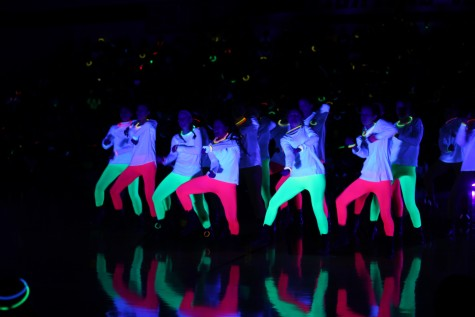 Students Participate in First Black Light Pep Rally