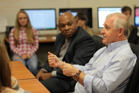 Austin Statesman Columnists Visit Journalism Class