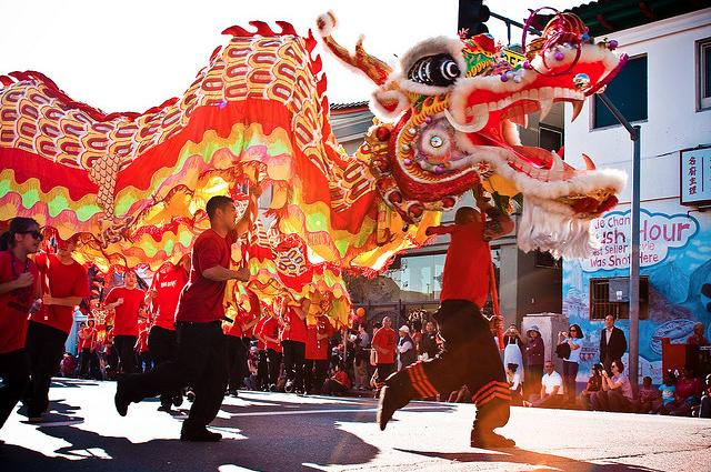 Los Angeles celebrates Chinese New Year in a parade.