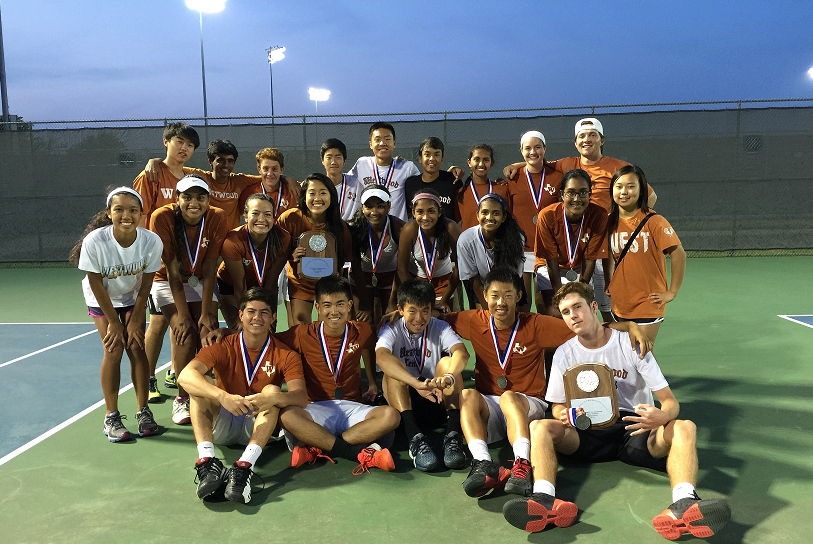 Varsity tennis wins District, moves on to Regionals. Photo courtesy of T. Dalrymple.