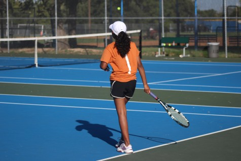 JV Orange Tennis Team Wins Against Anderson Trojans
