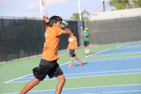 JV Orange Tennis Team Beats Cedar Park