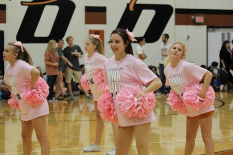 Students Raise Awareness of Breast Cancer During Pep Rally