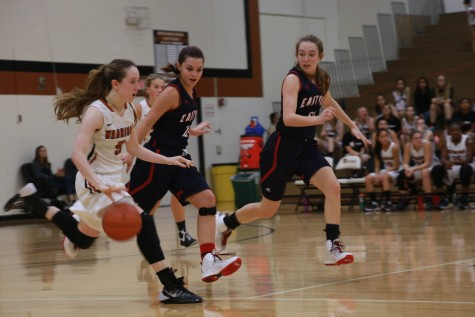Girls' Varsity Basketball Defeats East View 60-56