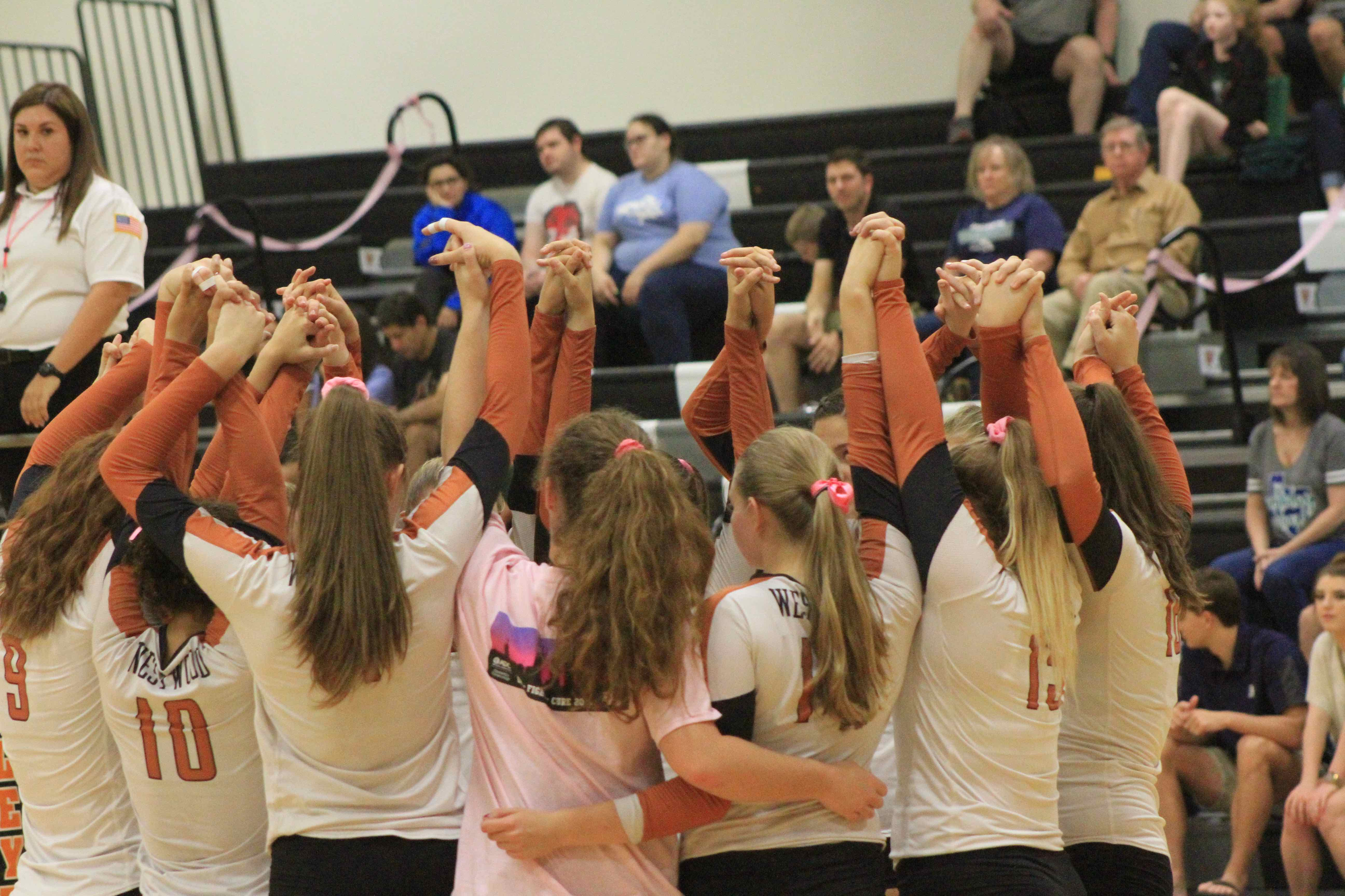 Varsity+Volleyball+Sweeps+McNeil+In+Annual+Breast+Cancer+Awareness+Game