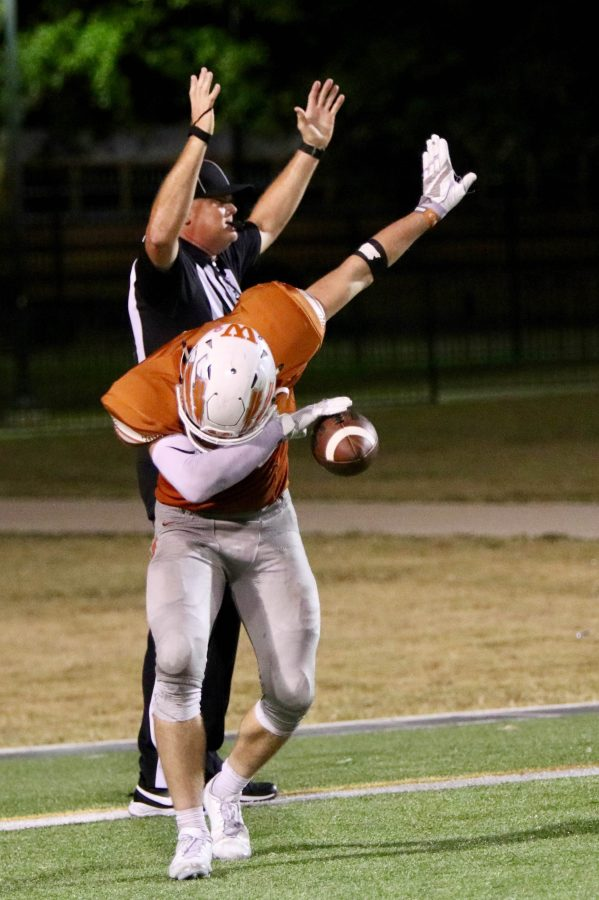 Beau Brown '17 dabs after scoring a touchdown.