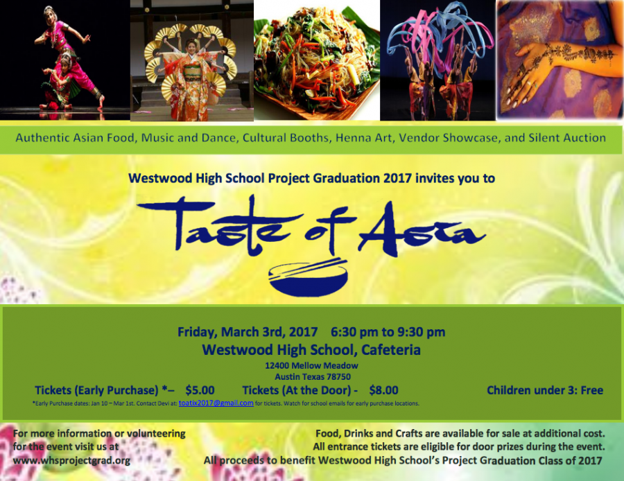 Project Graduation to Host Taste of Asia