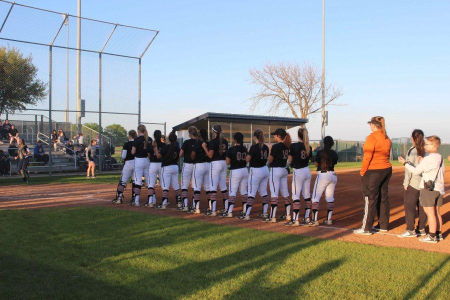 Stony Point High School introduces the Lady Warriors before the start of the game. Photo courtesy of Alex Reece.