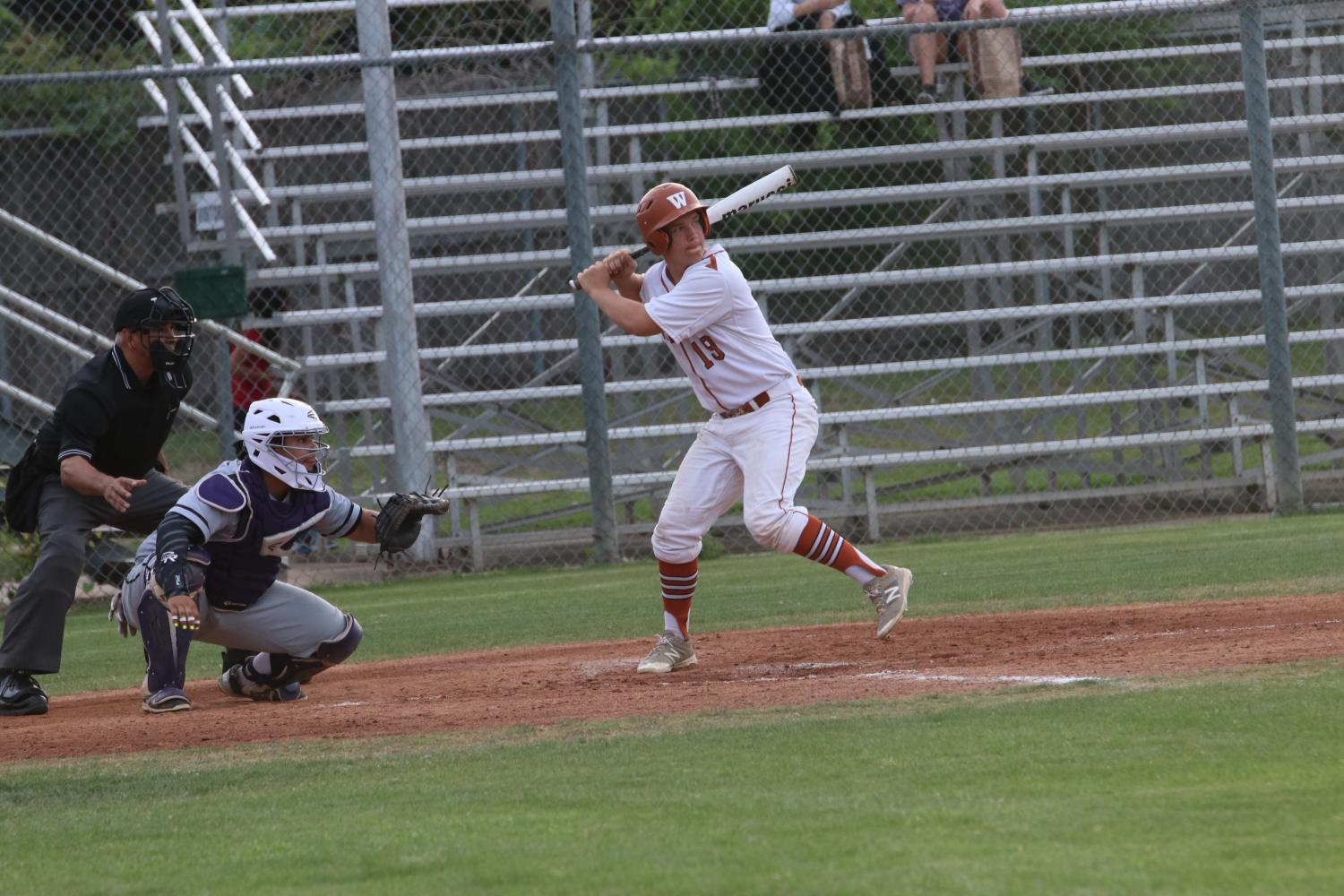GALLERY%3A+Varsity+Baseball+Falls+to+Cedar+Ridge+6-12