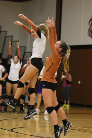 Varsity Volleyball Fights Hard Against Lake Travis