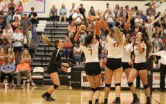 Varsity Volleyball Crushes Cedar Ridge