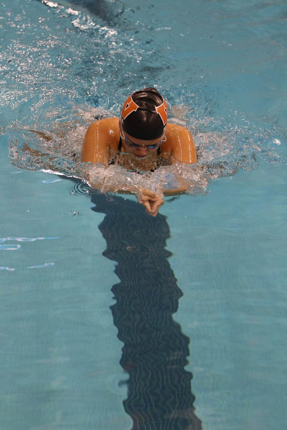 Victoria+Novoa+%2721+comes+up+for+air+in+the+breaststroke+race.