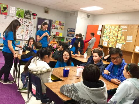 IB Students Visit Purple Sage to Teach French
