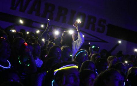 Blacklight Pep Rally Pumps Up School Spirit