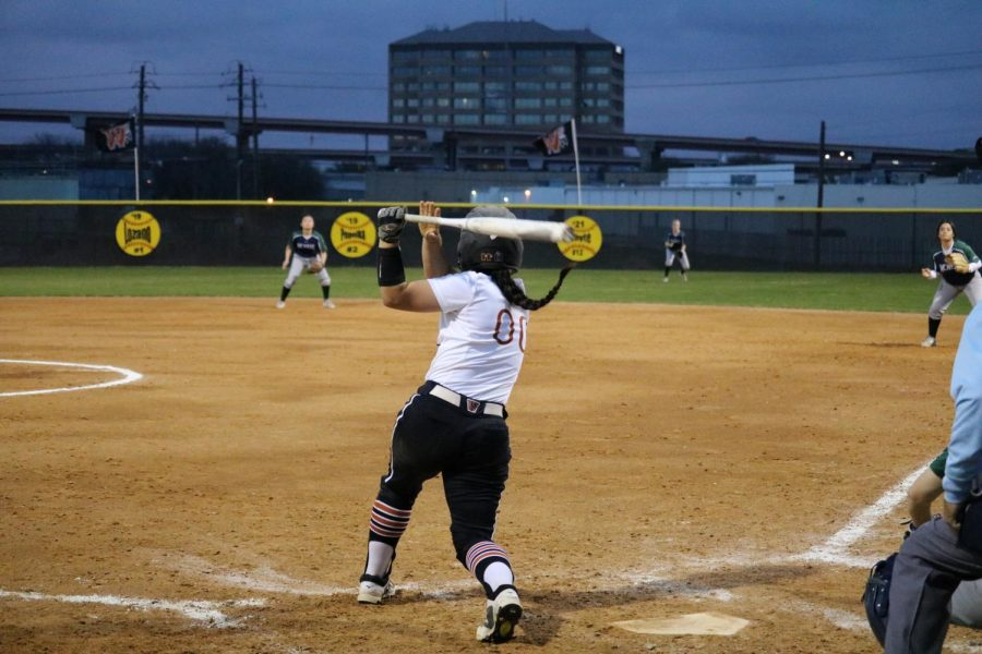 Gabby Garcia '19 swings for the fences.