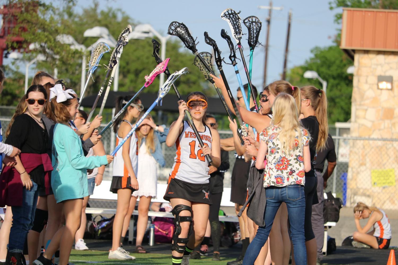 GALLERY%3A+Varsity+Girls%27+Lacrosse+Celebrate+Senior+Night%2C+Fall+to+McNeil