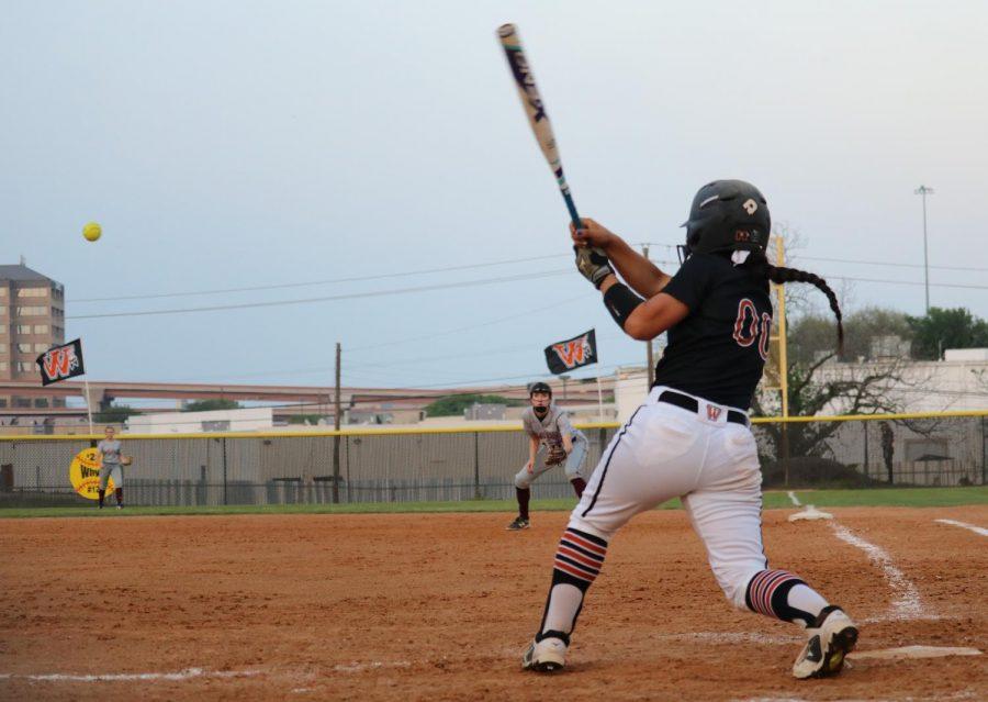 Gabby Garcia '19 swings away.