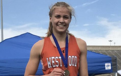 Jenny Todd '19 wins first to advance to Regionals. Photo courtesy of Westwood Track and Field.
