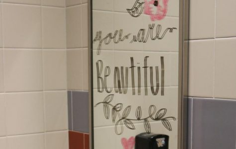 Drugs Alcohol Safety and Health Committee Organizes Mirror Writing Event