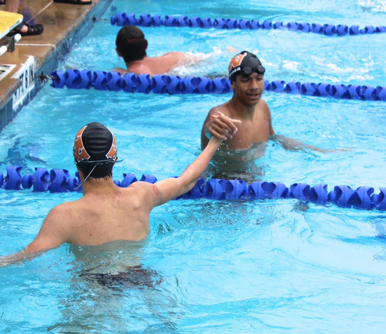 GALLERY%3A+Aquatics+Team+Holds+Annual+Orange+vs.+Black+Intramural+Meet