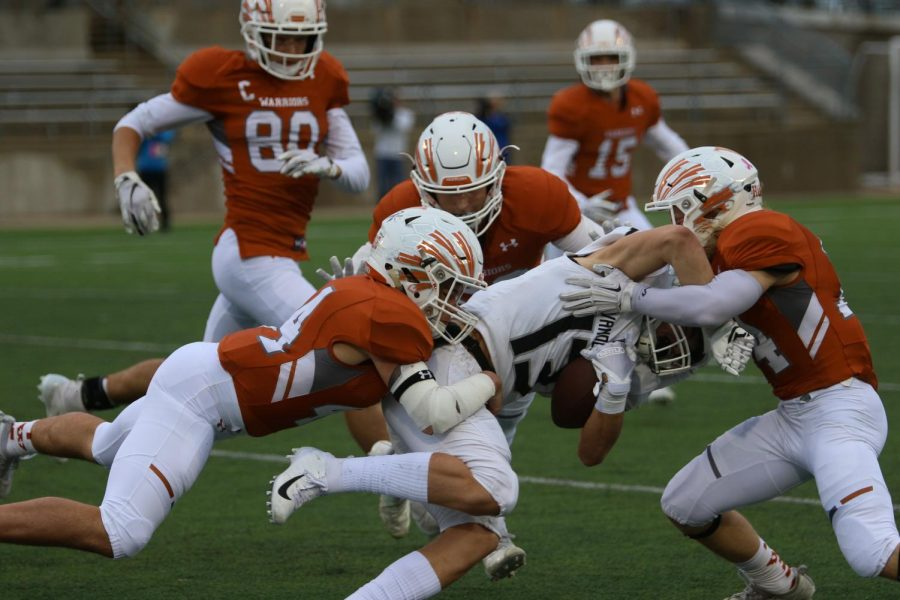Varsity Football Unable To Complete Rally on Homecoming Night, Fall 21-12