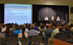 Parents and Students Attend College Admissions Night