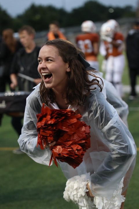 McKenna+Stodgill+%2720+shakes+her+poms+and+chants+during+the+drum+line+performance+in+the+third+quarter.