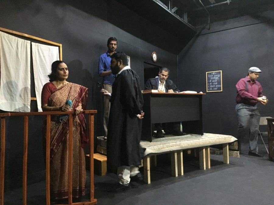 Ms. Kashikar's character takes the stand while Tanuj Potra, the lawyer, interrogates her.