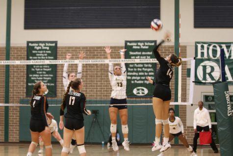 Varsity Volleyball Slips Under Cypress Ranch in Playoff Match