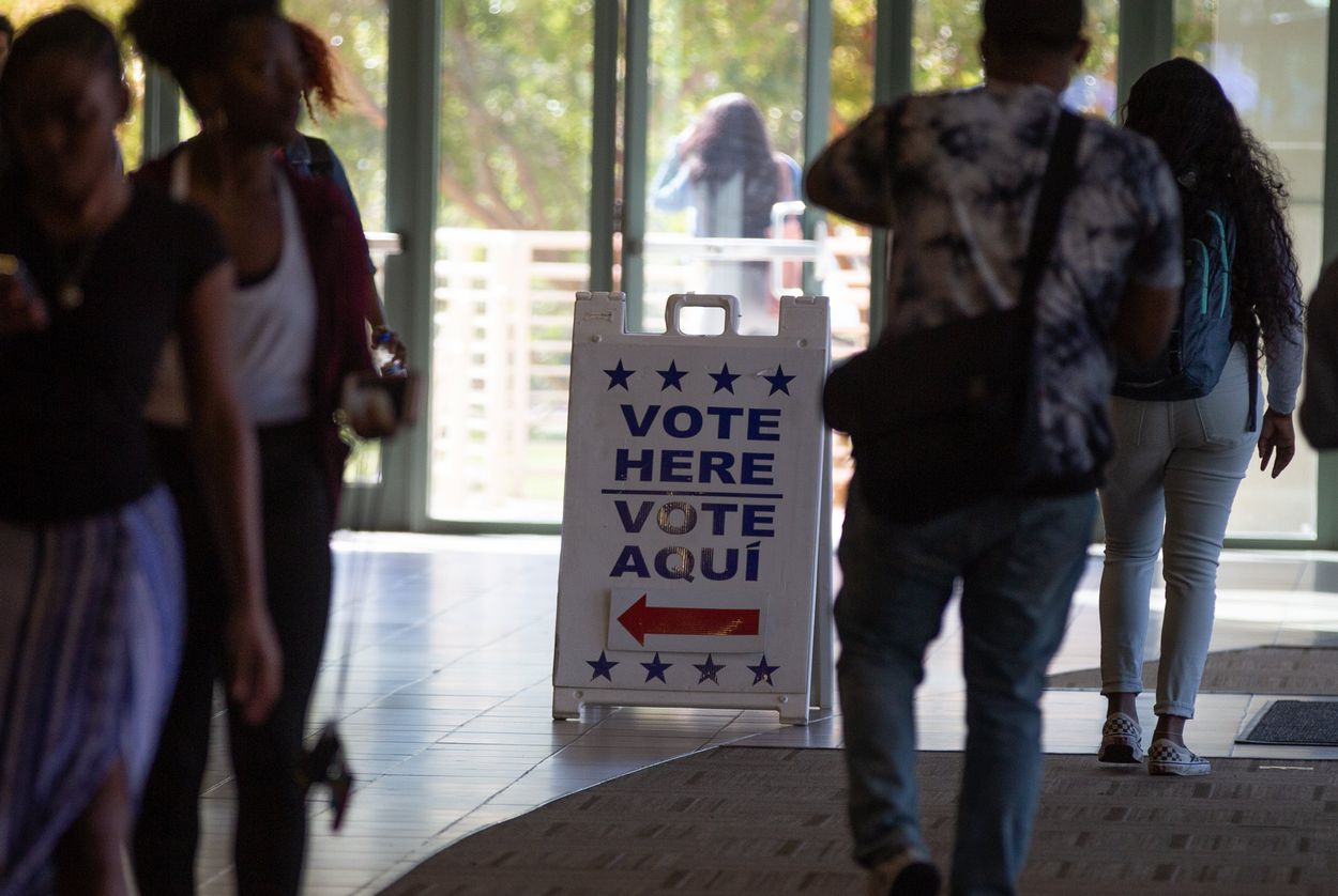 Early voting at Prairie View A&M University in Prairie View.