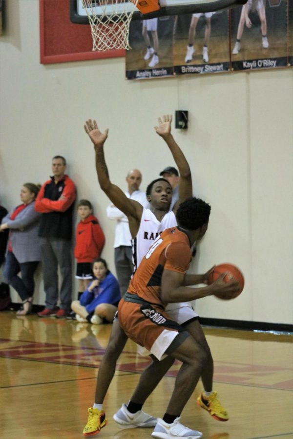 Brandon Parks 20 prepares to take a shot in the paint.
