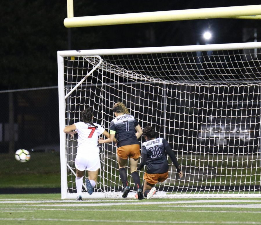 Claire Tinker 19 and Anisha Chintala 21 save the last attempted goal.