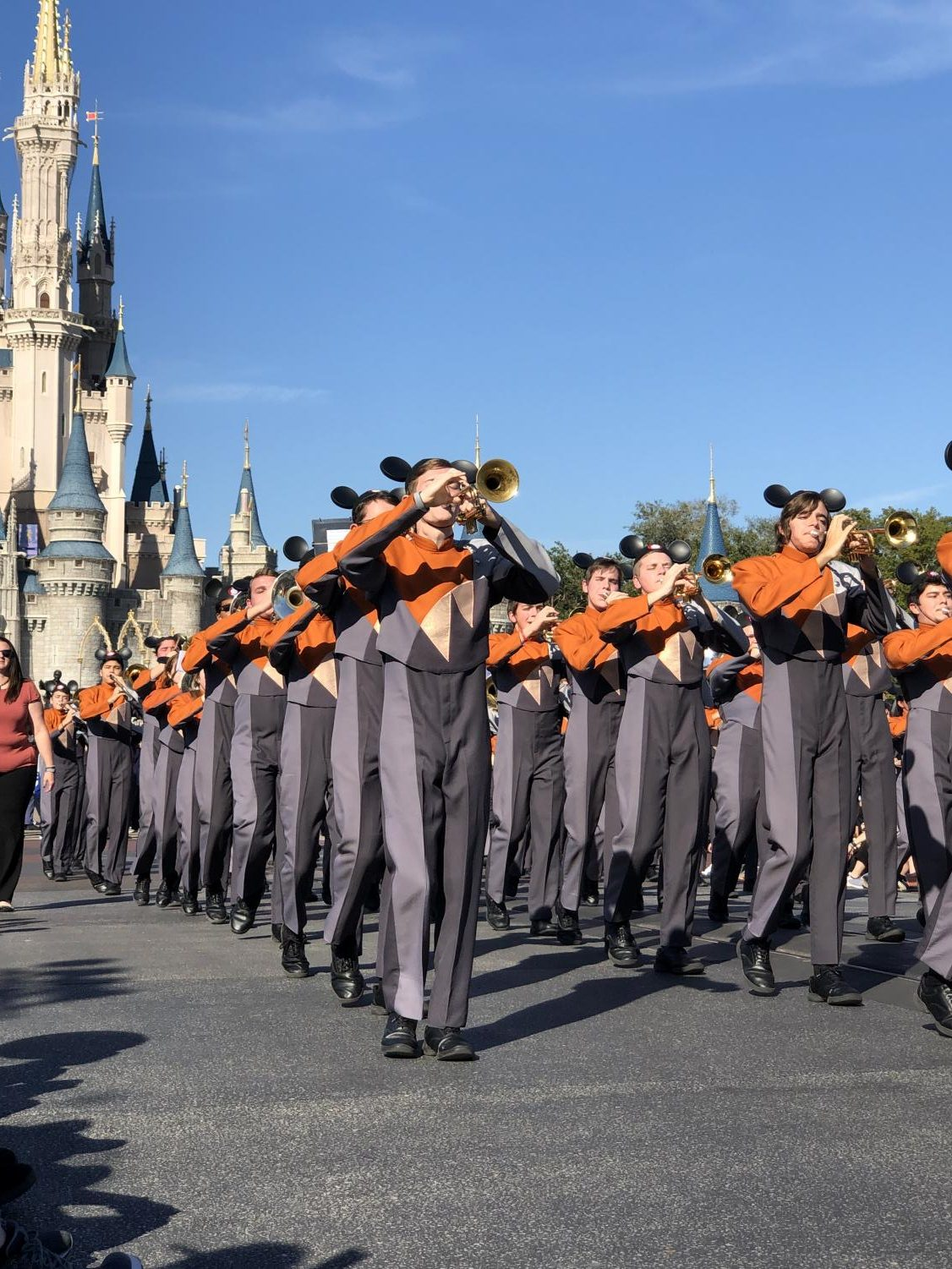 The+trumpet+section+leads+the+parade.