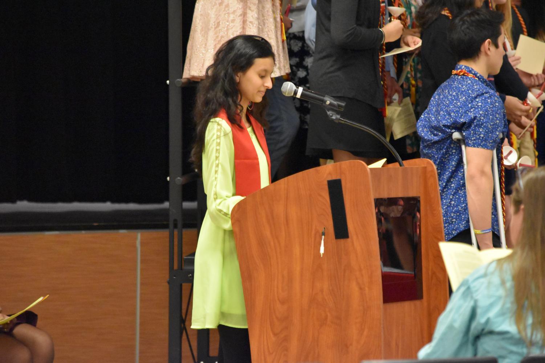 Corresponding+Secretary+Sejal+Jain+%2720+recites+a+poem.