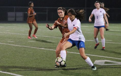Varsity Girls' Soccer Tie Leander Lions 0-0