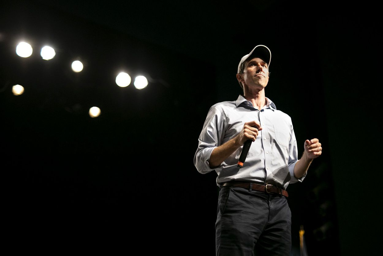 Then-U.S. Rep. Beto O'Rourke, D-El Paso, spoke to supporters at a campaign rally during his U.S. Senate bid.