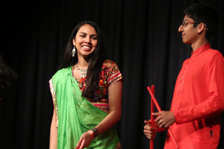 Nehali+Shah+%2719+smiles+as+she+wears+a+Lengha+in+the+fashion+show.