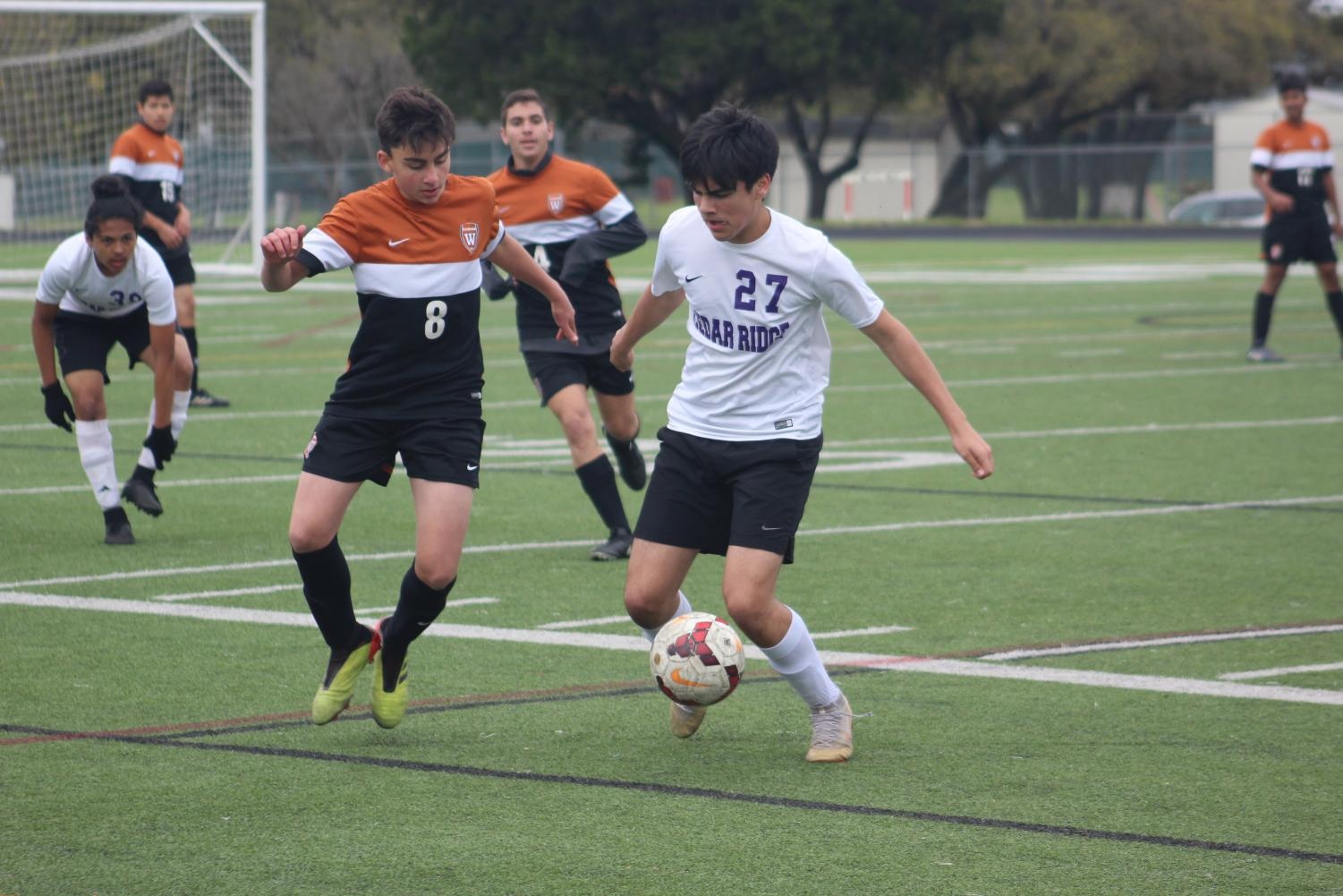 Boys%27+JV+White+Soccer+Conclude+Season+with+Draw+Against+Cedar+Ridge