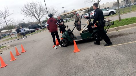 Students Simulate Drunk Driving