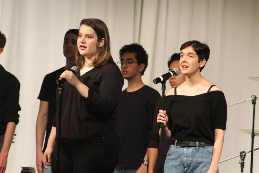 Grace Green 20 and Rebekah Farris 19 sing solos during The Night We Met by Lord Huron.