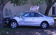 Project Graduation Displays Crashed Car