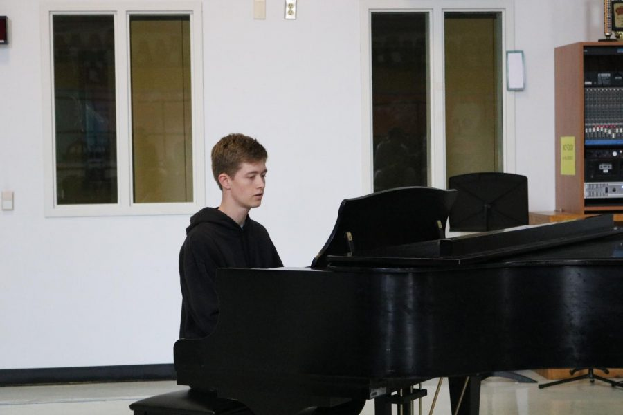 Andrew Stevens 20 plays piano and sings Your Song by Elton John.