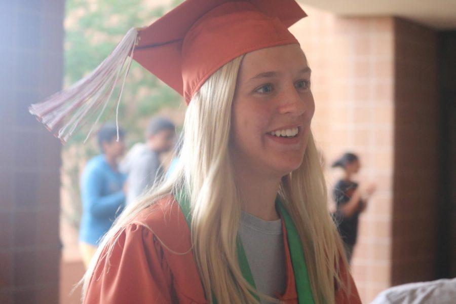 MacKenzie Bartek '19 smiles as she sees her old teachers from Canyon Vista.