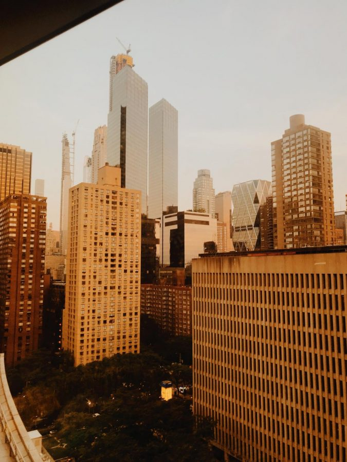 The view from my dorm room at Fordham University.