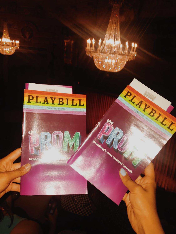 Keana+Saberi+%2722+watches+the+Tony+Award+winning+musical+The+Prom+on+Broadway.