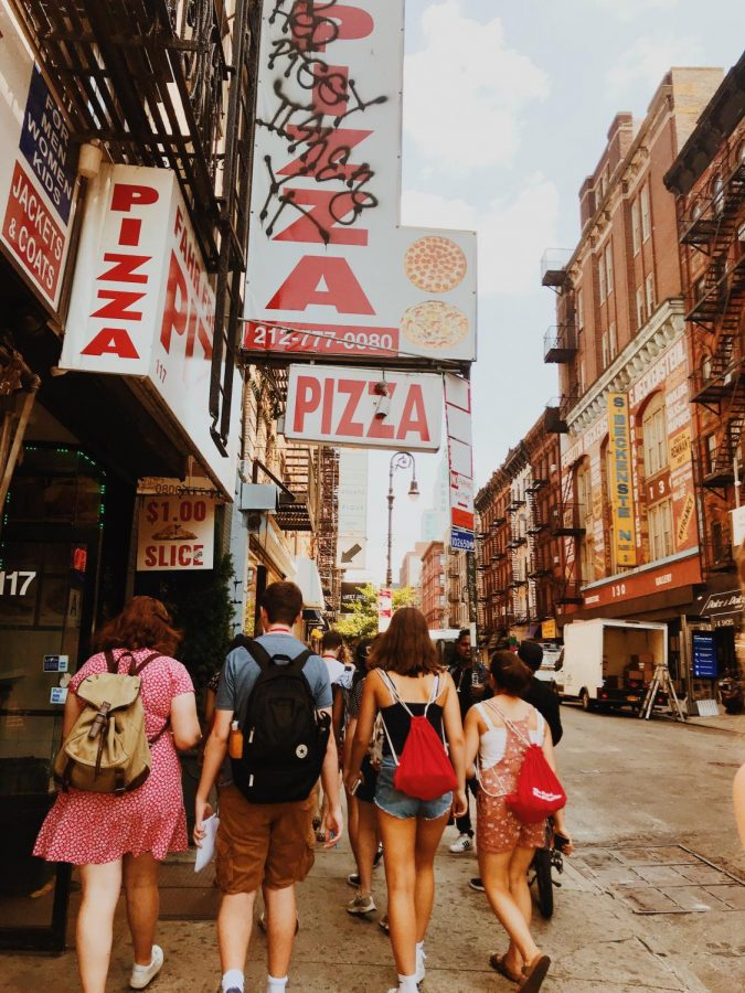 The Writing the Big City course spends the day in the Lower East Side.